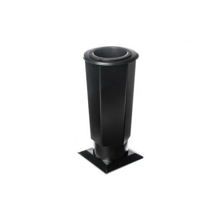 Hřbitovní váza-Tr-V3 černá velká