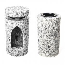 Set hřbitovní váza a svítilna Silver