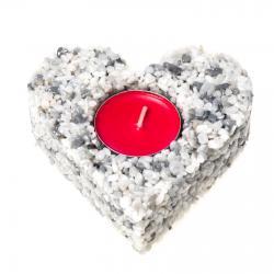 Svícen srdce Silver