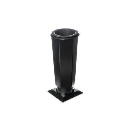 Hřbitovní váza-Tr-V4 černá malá