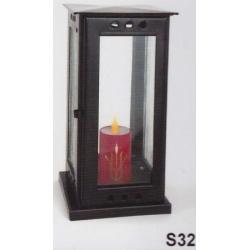 Hřbitovní lampa S32 pozink černá
