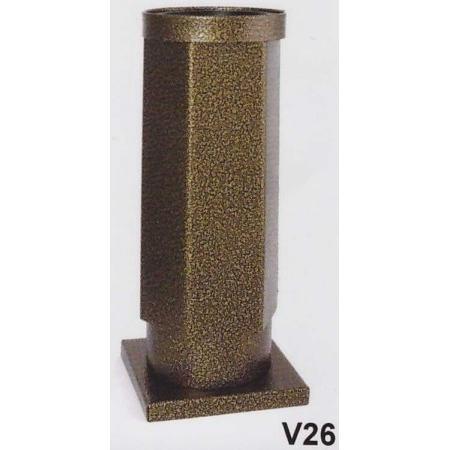 Hřbitovní váza V26-Komaxit - nerez starozlato