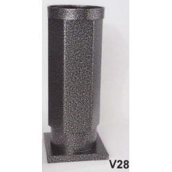 Hřbitovní váza V28-Komaxit-nerez starostříbro