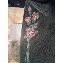 Gravírovaná růže barevná velikost cca 25 cm