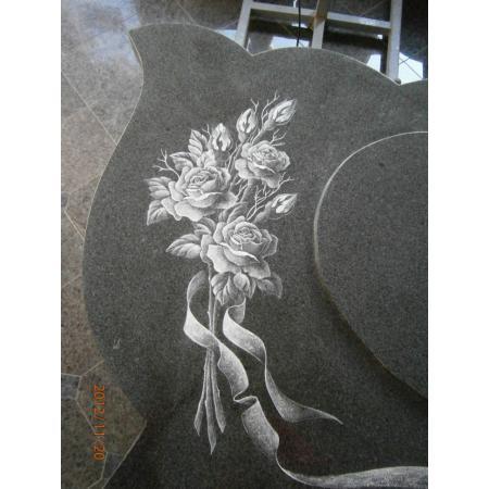 Gravírovaná růže velikost cca 30 cm