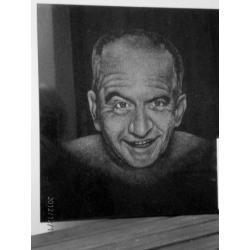 Gravírovaný portrét výška cca 20 cm