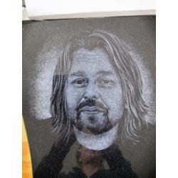 Gravírovaný portrét výška cca 25 cm